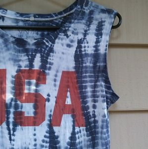 L.O.L. Vintage Tops - LOL VINTAGE USA tie dyed tank top